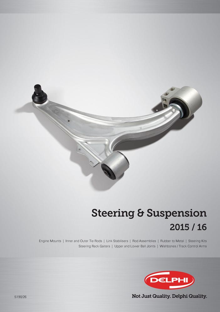 Delphi Steering Suspension New Catalogue Cover