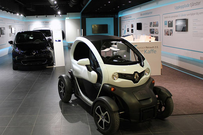 Electric Vehicle concept store in Europe