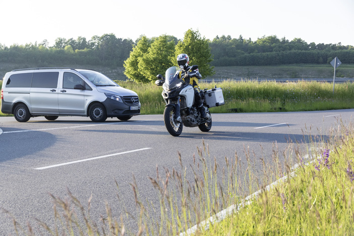 boschs a prototype motorcycle-to-vehicle communication system will reduce the risk of accidents