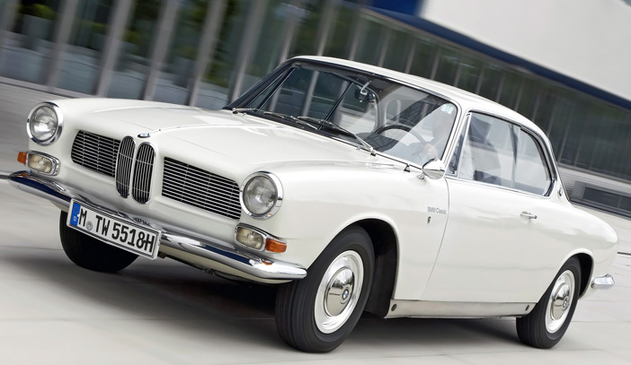 1961 BMW 3200 CS coupe front-angle