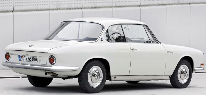 1961 BMW 3200 CS coupe rear-angle
