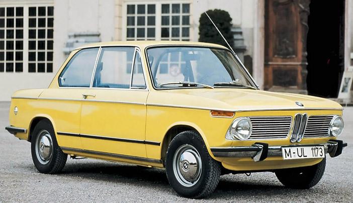 1966 BMW 1600-2 E10 yellow front-angle