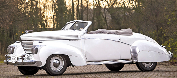 1938 Graham Model 97 Supercharger convertible side