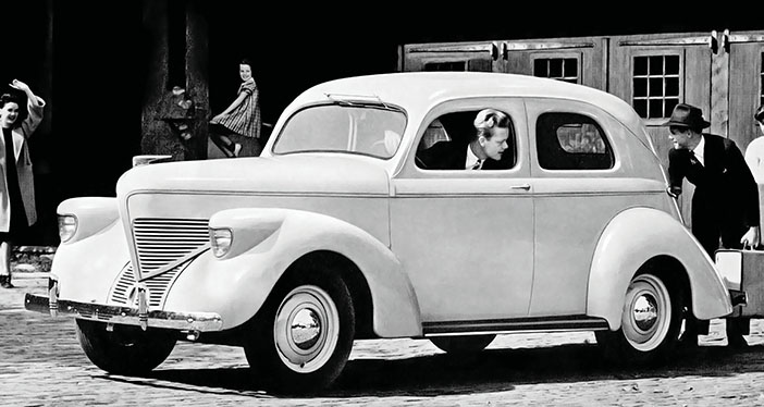 1939 Willys Model 39 2door Sedan bw