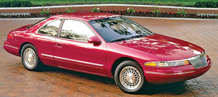 1993 Lincoln Mark VIII red