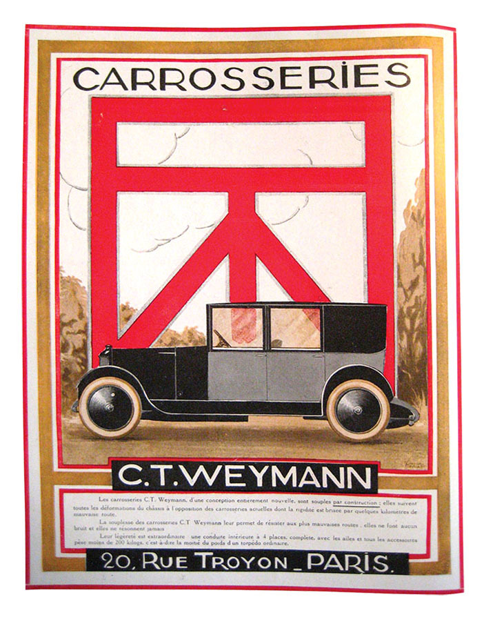 1922 Weymann advert