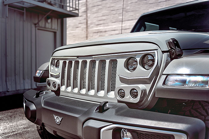 oracle vector proseries jeep gray close up